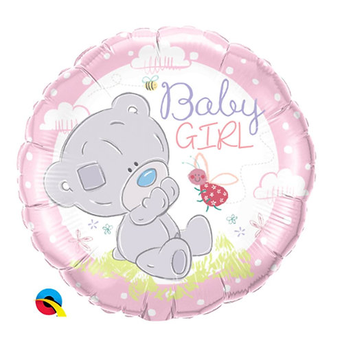 "Redondo Estampa Ursa Teddy Baby Girl 18"" UNIDADE (Qualatex)"