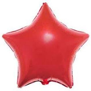 """Estrela lisa Vermelho 18"""" UNIDADE (Megatoon)"""