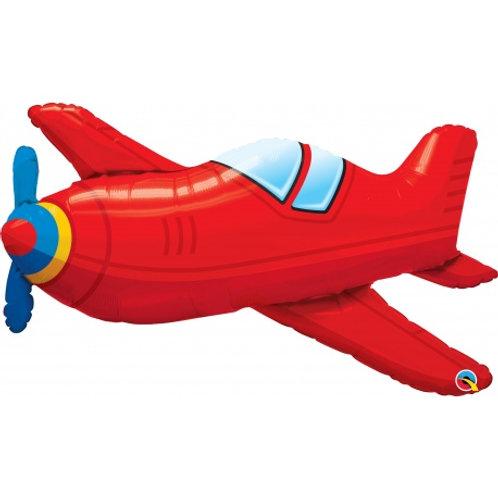 """Avião vermelho 36"""" UNIDADE (Qualatex)"""