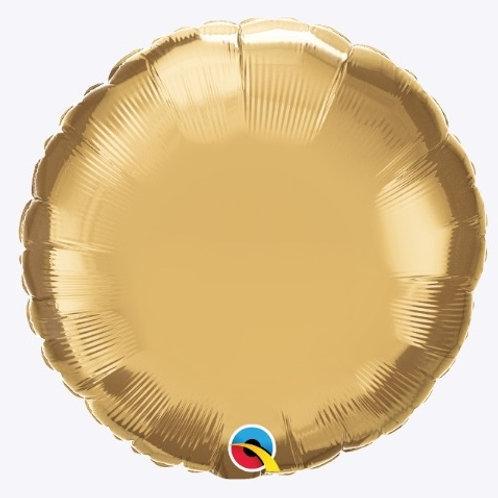 """Redondo Chrome Ouro 18"""" UNIDADE (Qualatex)"""