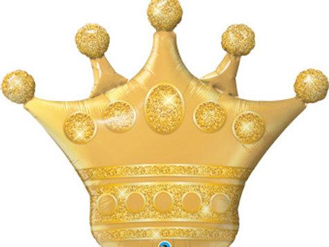 """Coroa dourada 41"""" UNIDADE (Qualatex)"""