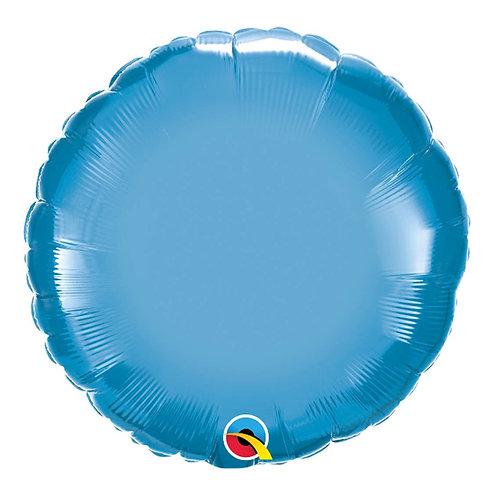 """Redondo Chrome Azul 18"""" UNIDADE (Qualatex)"""