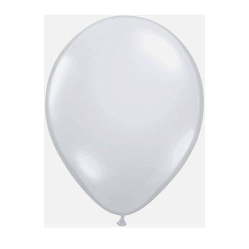 """Balão Latex Liso transparente cristal 11"""" UNIDADE (Qualatex)"""