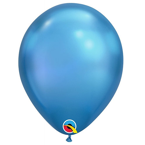 "Balão Latex Chrome Azul 11"" UNIDADE (Qualatex)"