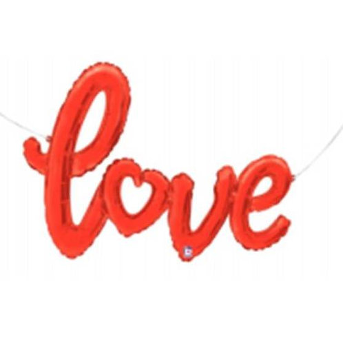 """Escrita Love vermelho 47"""" UNIDADE (Betalic)"""