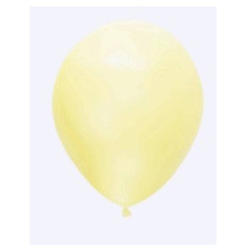 """Balão Latex Pastel Amarelo Baby 12"""" UNIDADE (Sempertex)"""