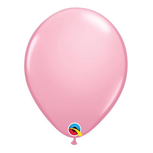 """Balão Latex Liso Rosa Claro 11"""" UNIDADE (Qualatex)"""