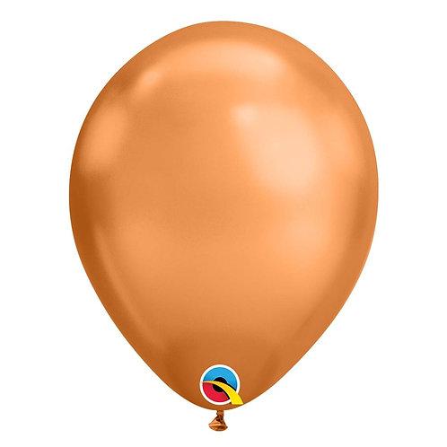 """Balão Latex Chrome Cobre 11"""" UNIDADE (Qualatex)"""