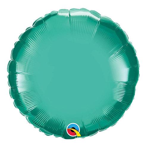 """Redondo Chrome Verde 18"""" UNIDADE (Qualatex)"""