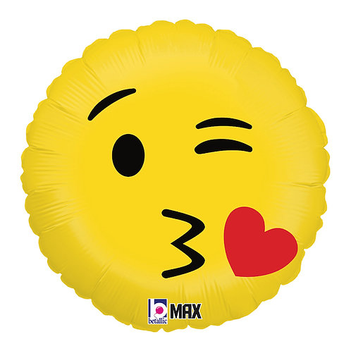 """Redondo Estampa Emoji beijo 20"""" UNIDADE (Betalic)"""