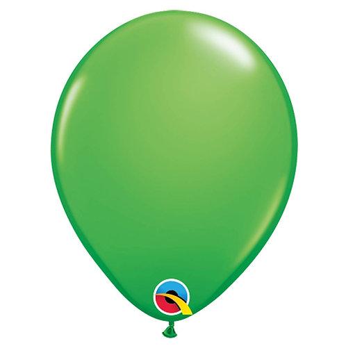 """Balão Latex Liso Verde Primavera 11"""" UNIDADE (Qualatex)"""