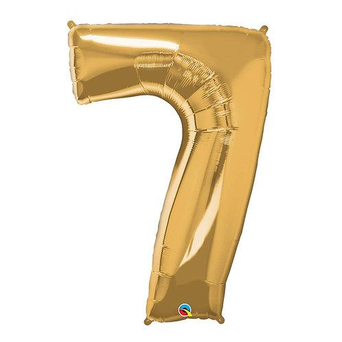 """Número 7 Ouro 26"""" 66cm altura UNIDADE"""