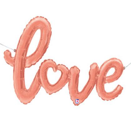 """Escrita Love rose gold 47"""" UNIDADE (Betalic)"""
