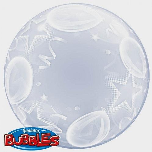 "Bubble liso Balões e estrelas 24"" UNIDADE (Qualatex)"