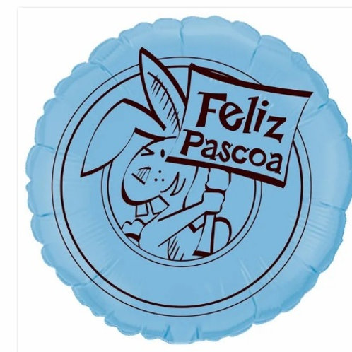 "Redondo Estampa Feliz páscoa azul baby 20"" UNIDADE (Megatoon)"