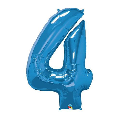 """Número 4 Azul 26"""" 66cm altura UNIDADE"""