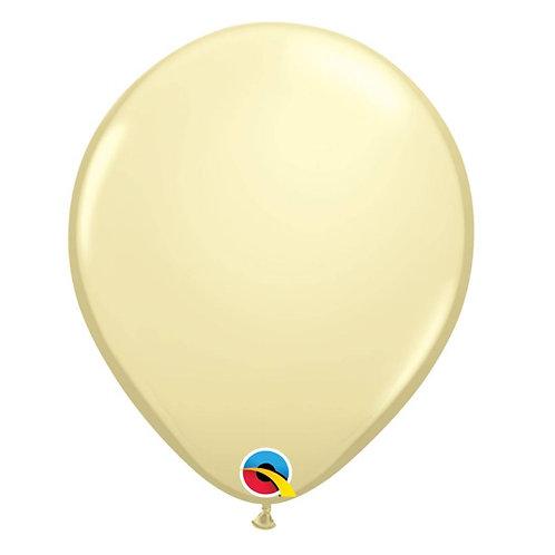 """Balão Latex Perolado Marfim 11"""" UNIDADE (Qualatex)"""