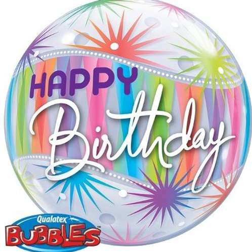 "Bubble Simples Birthday Explosão de Sorvete 22"" UNIDADE ("