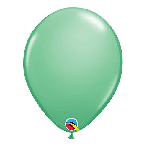 """Balão Latex Liso Verde Inverno 11"""" UNIDADE (Qualatex)"""