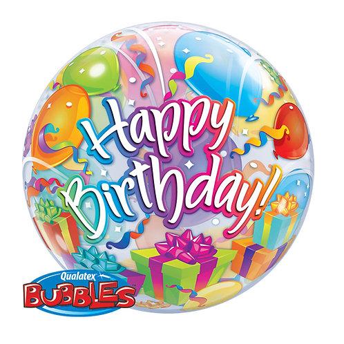 """Bubble Simples Birthday Surpresas de Aniversário 22"""" UNIDADE (Qualatex)"""