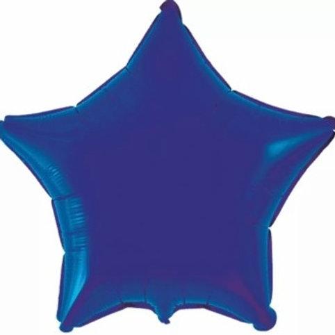 """Estrela lisa Azul marinho 18"""" UNIDADE (Megatoon)"""
