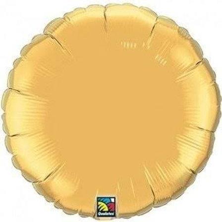 "Redondo liso Ouro 18"" UNIDADE (Megatoon)"