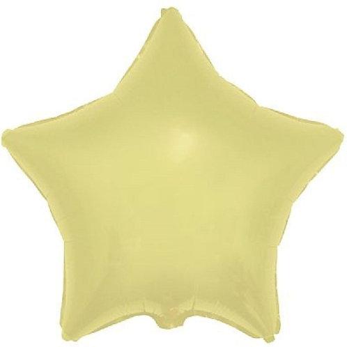 """Estrela lisa Amarelo baby 18"""" UNIDADE (Megatoon)"""