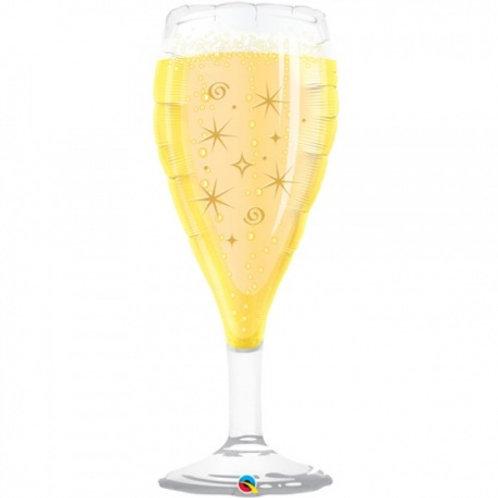 """Taça espumante champanhe 39"""" UNIDADE (Qualatex)"""