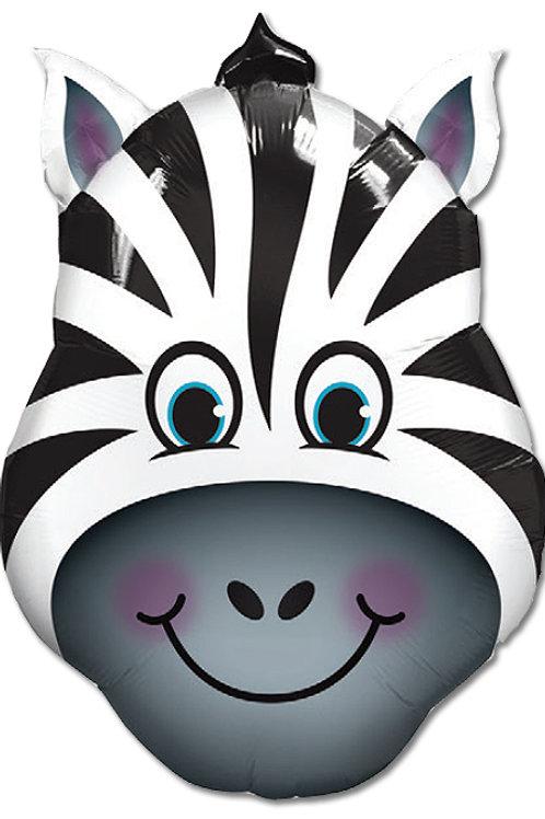 """Zebra louca 32"""" UNIDADE (Qualatex)"""