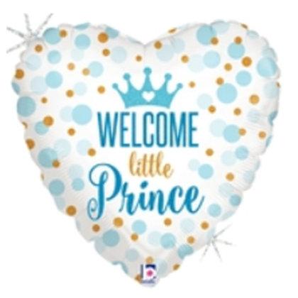 """Coração Estampa Welcome Little Prince 20"""" UNIDADE (Betalic)"""