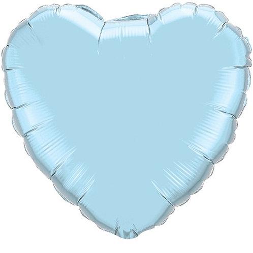 """Coração Liso Azul baby 18"""" UNIDADE (Megatoon)"""