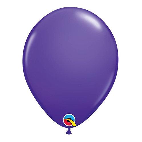 """Balão Latex Liso Roxo 11"""" UNIDADE (Qualatex)"""