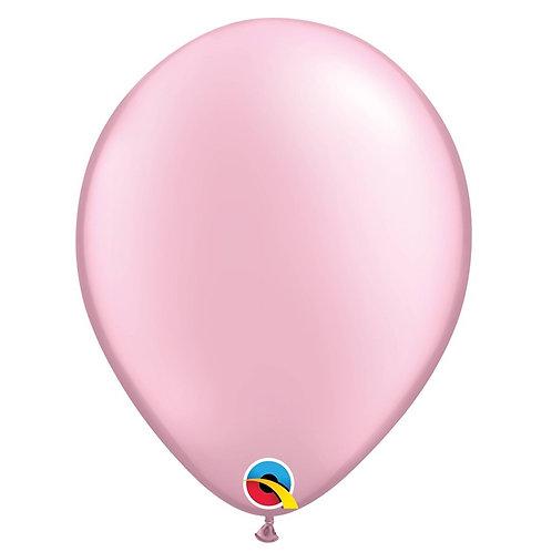 """Balão Latex Perolado Rosa Claro 11"""" UNIDADE (Qualatex)"""