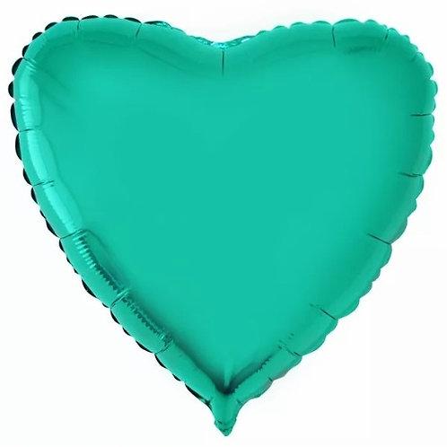 """Coração Liso Tiffany 18"""" UNIDADE (Megatoon)"""