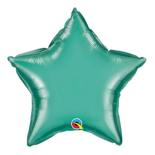"""Estrela Chrome Verde 18"""" UNIDADE (Qualatex)"""
