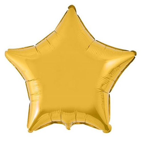 "Estrela lisa Ouro 18"" UNIDADE (Megatoon)"