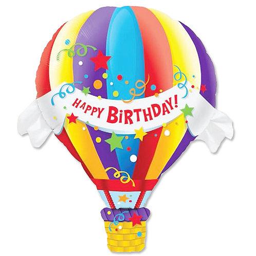 """Balão de ar quente Happy birthday 42"""" UNIDADE (Qualatex)"""