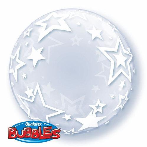 "Bubble liso Estrelas 24"" UNIDADE (Qualatex)"