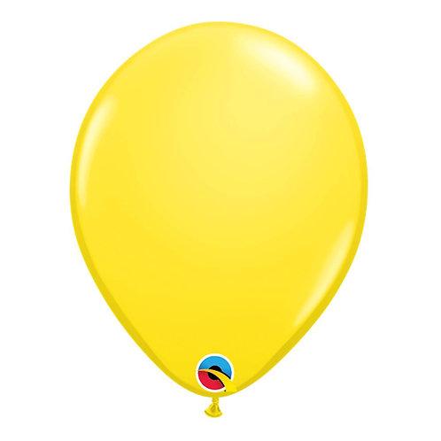 """Balão Latex Liso Amarelo 11"""" UNIDADE (Qualatex)"""