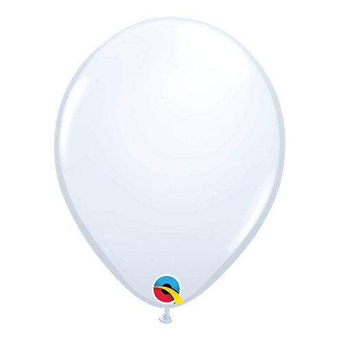 """Balão Latex Liso Branco 11"""" UNIDADE (Qualatex)"""