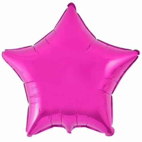 "Estrela lisa Pink 18"" UNIDADE (Megatoon)"