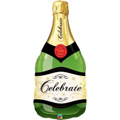 """Garrafa espumante champanhe verde 39"""" UNIDADE (Qualatex)"""