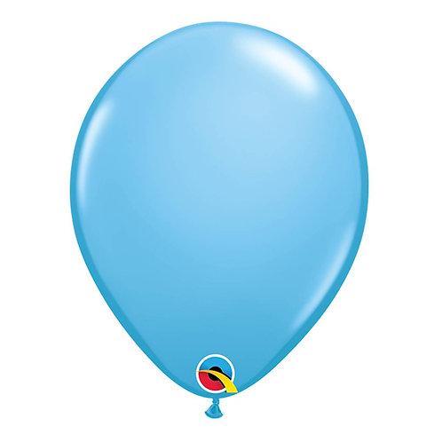 """Balão Latex Liso Azul Claro 11"""" UNIDADE (Qualatex)"""