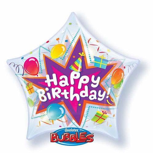 "Bubble Simples Estrela Birthday Explosão de Aniversário 22"" UNIDADE ("