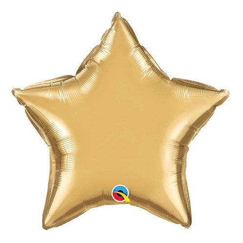"""Estrela Chrome Ouro 18"""" UNIDADE (Qualatex)"""
