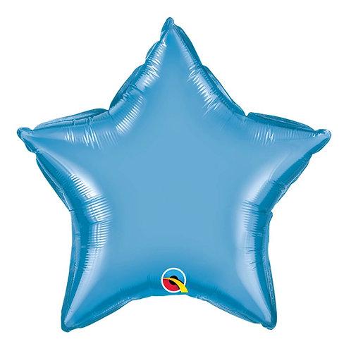 """Estrela Chrome Azul 18"""" UNIDADE (Qualatex)"""