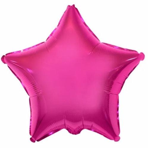 "Estrela lisa Pink Rhodamine 18"" UNIDADE (Megatoon)"
