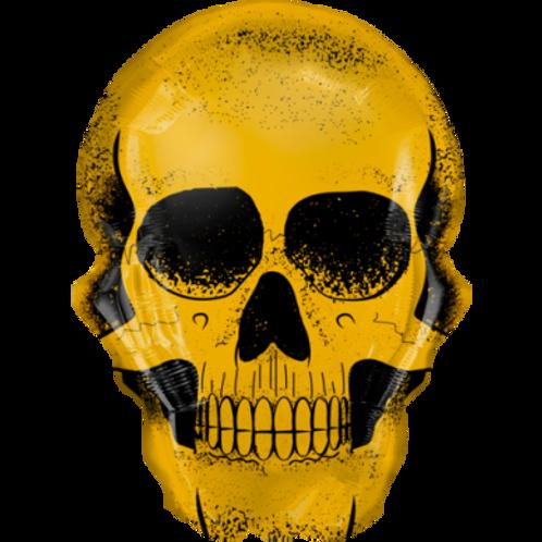 """Caveira crânio dourado 36"""" UNIDADE (Qualatex)"""