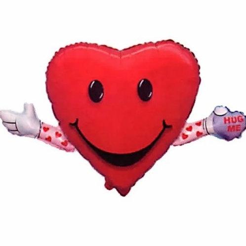 """Coração Amor e abraço 30"""" UNIDADE (Megatoon)"""