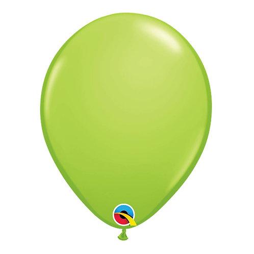 """Balão Latex Liso Verde Limão 11"""" UNIDADE (Qualatex)"""